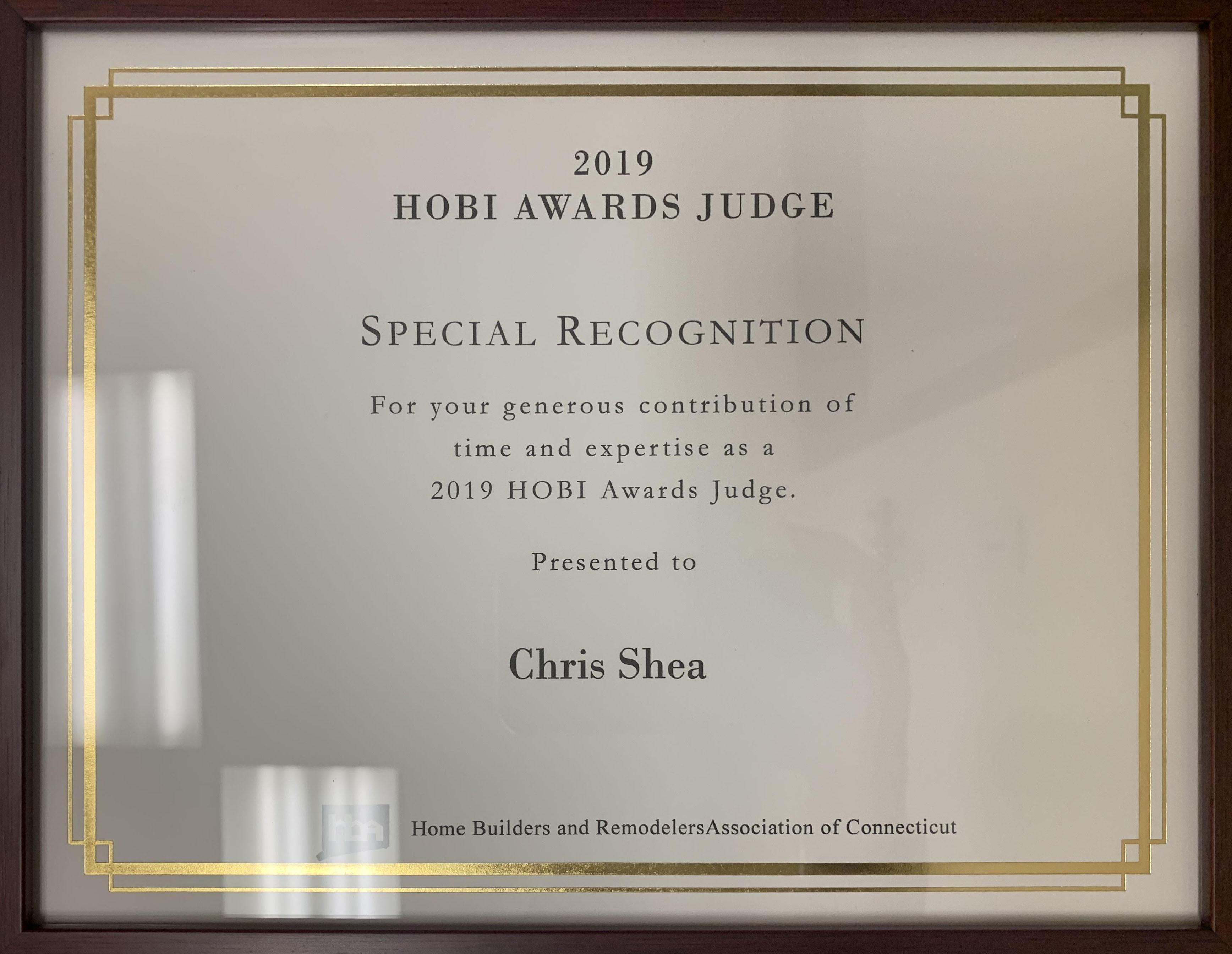 2019 HOBI Awards Recognition